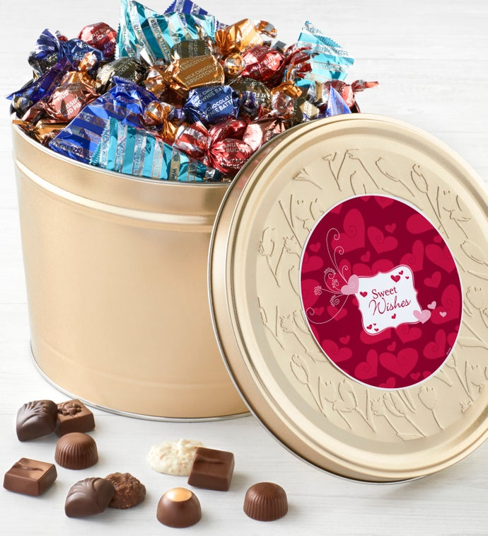 Harry London 5LB Valentine Chocolate Tin