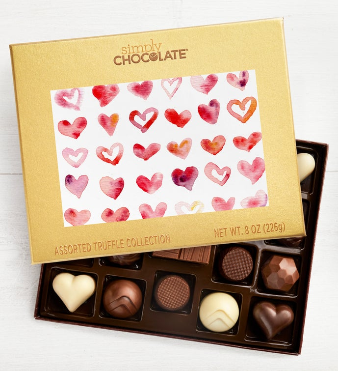Hearts Design 19pc Chocolate Box