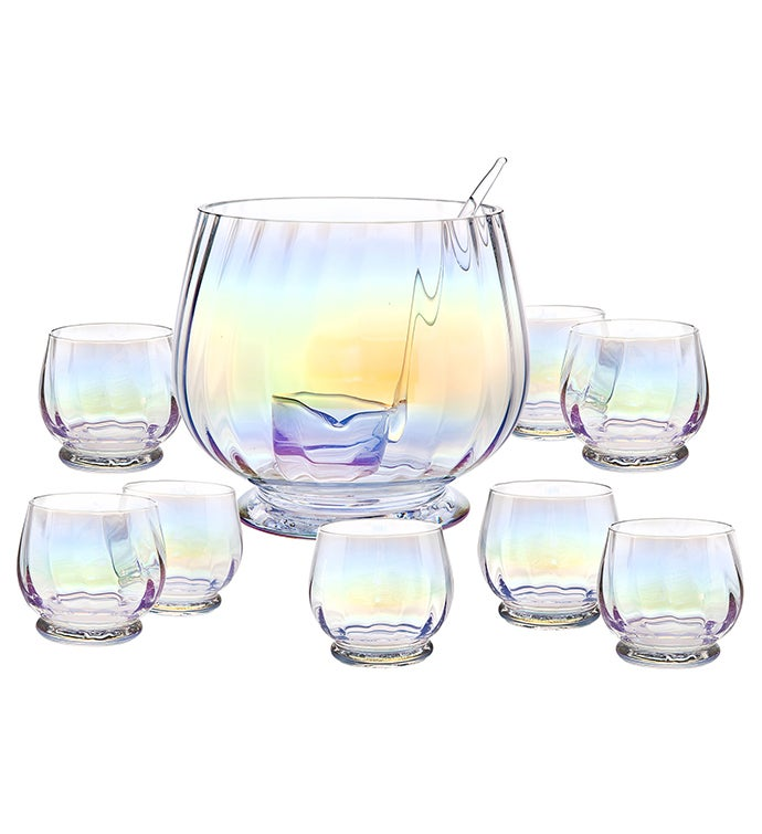 Monterey 10 pc Punch Bowl Set