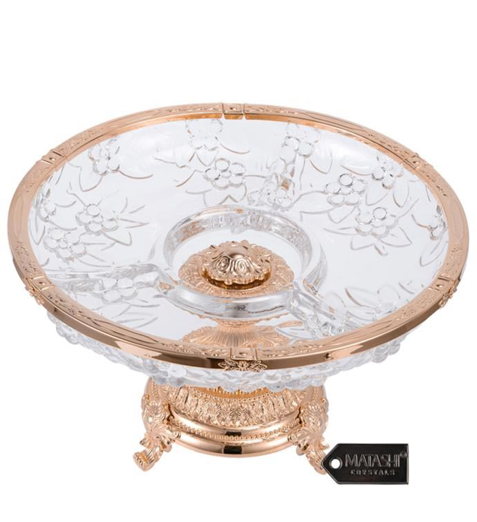 Sectional Compote Centerpiece Decorative Bowl