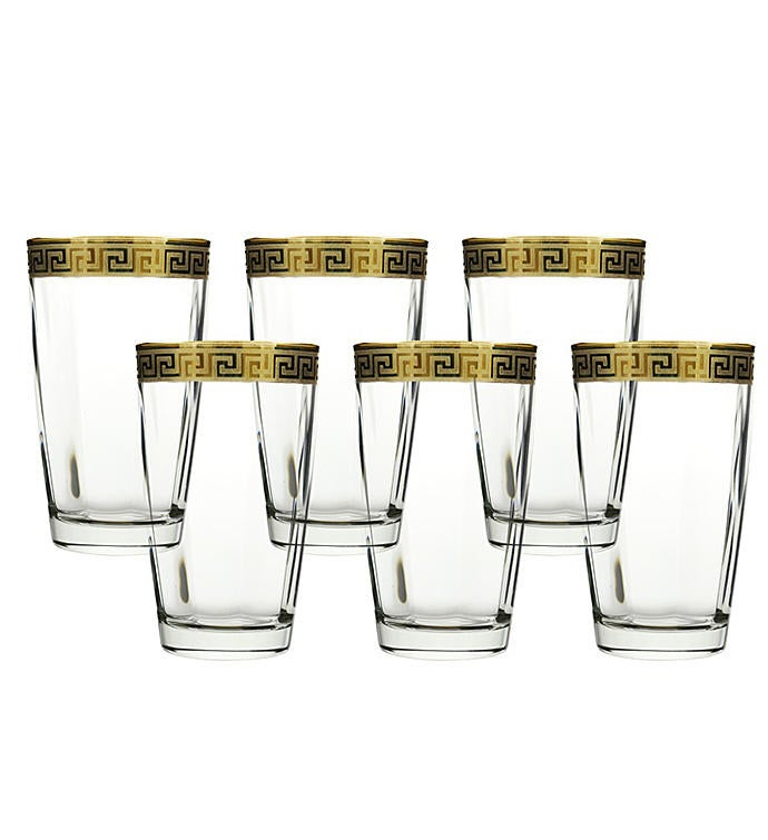 6 Piece Hi Ball Glasses