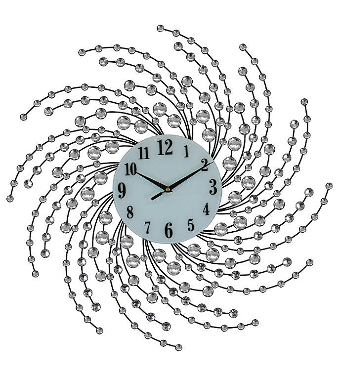 Silver Spiral Wall Clock