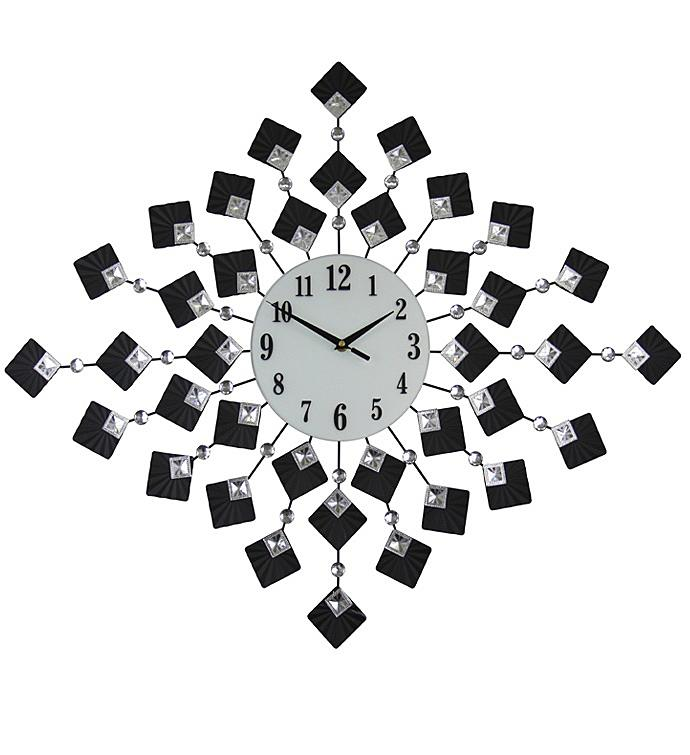 Black Squares Wall Clock