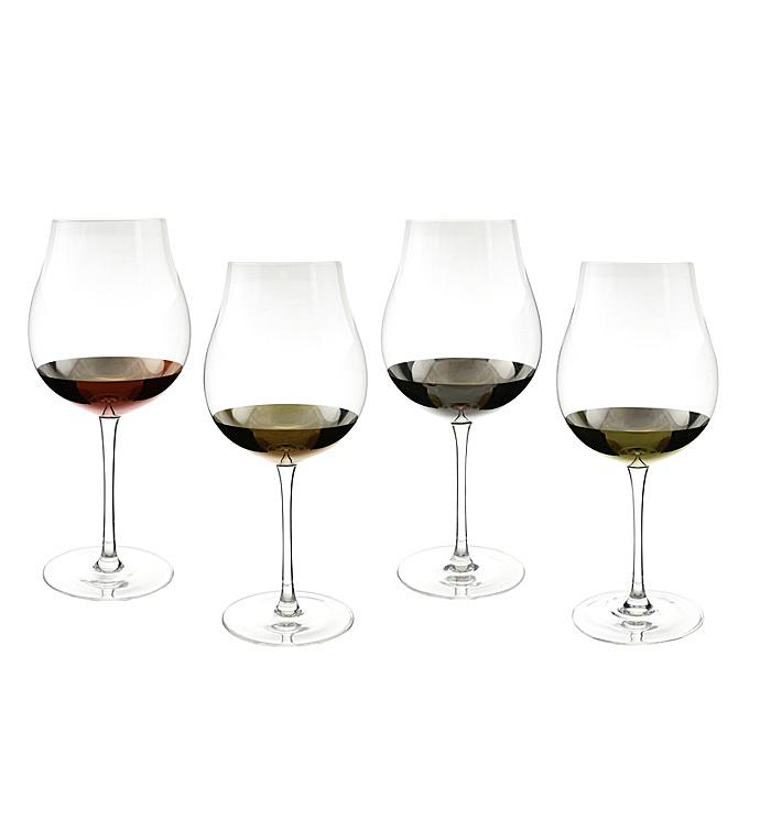 Tulip Shaped Wine Glass Set