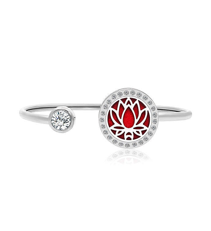 Premium Lotus Essential Oil Twistable Cuff Bangle