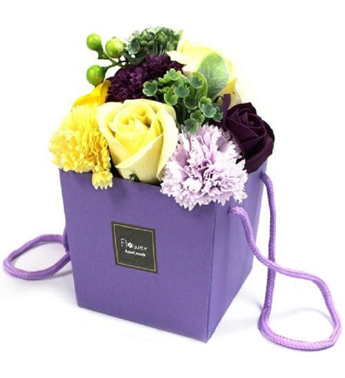 Soap Flower Bouquet - Purple Flower Garden