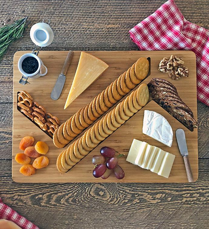 34ZigZag34 Cheese And Crackers Board