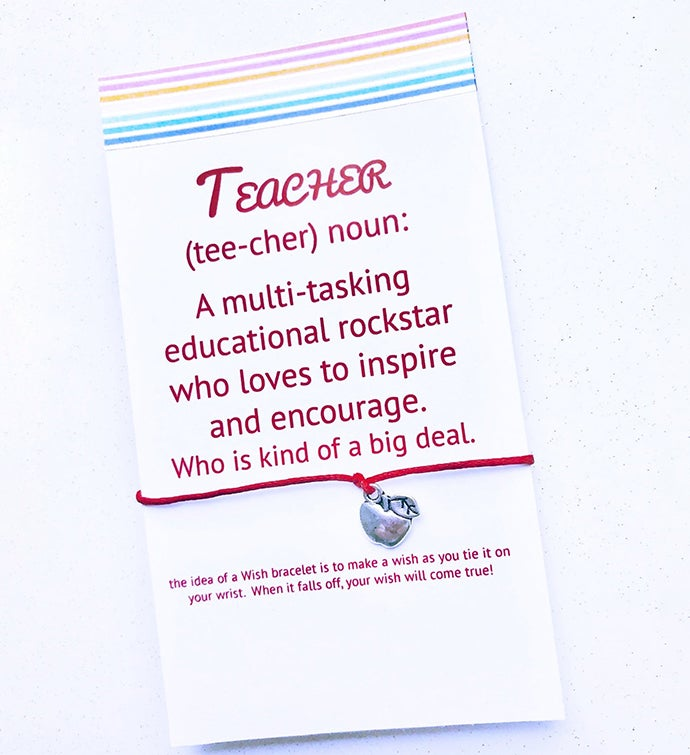 Teacher Definition Wish Bracelet
