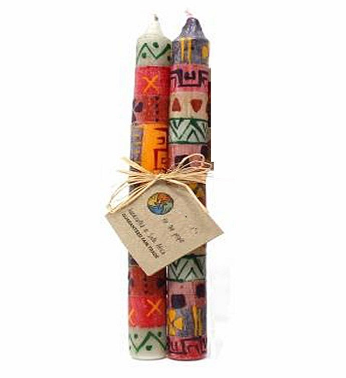 South African Hand Painted Taper Candles