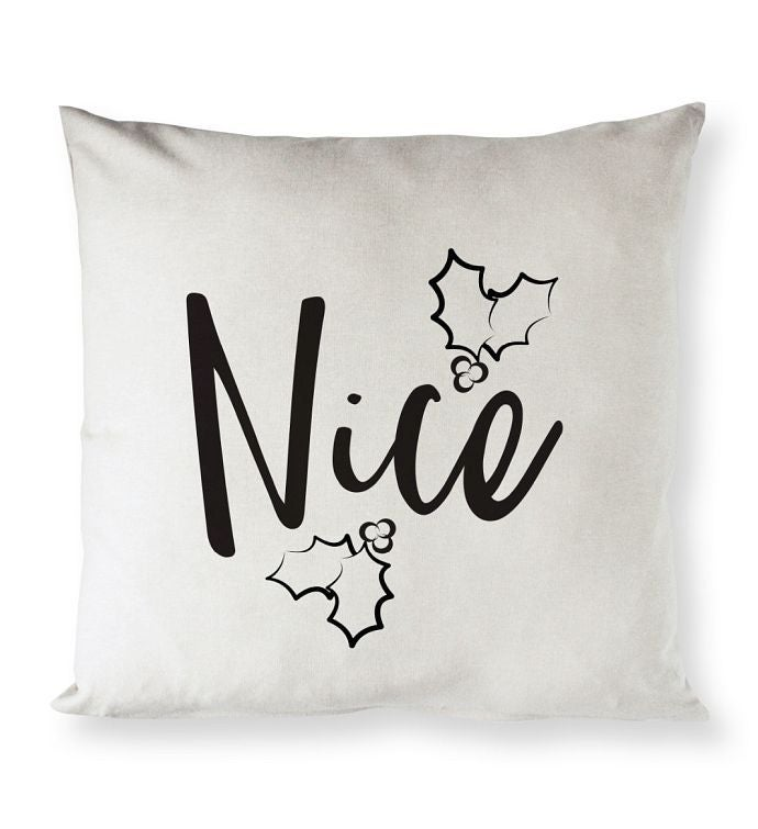 Naughty Nice Holiday Pillow Cover