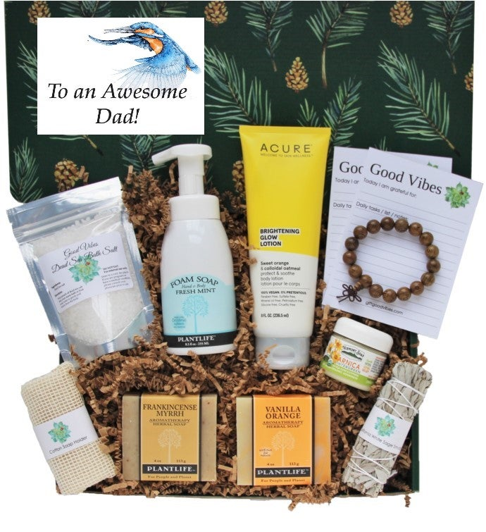 34Awesome Dad34 Good Vibes Men39s Gift Box