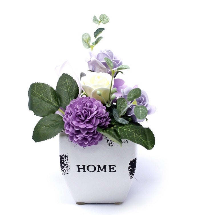 Bouquet Petite Soap Flower Pot