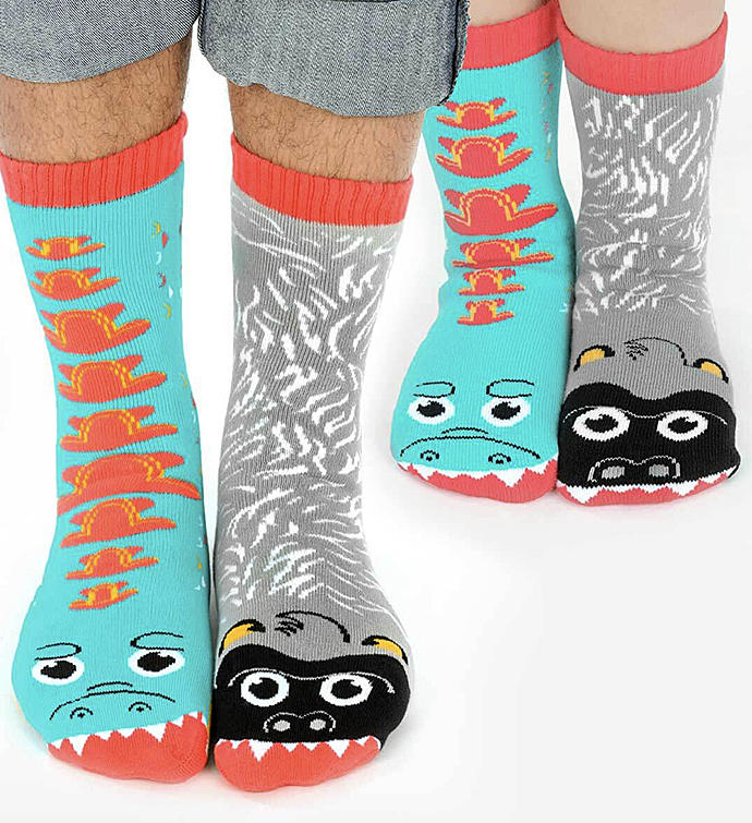 Giant Gorilla  Mutant Lizard  Adult  Kid Socks