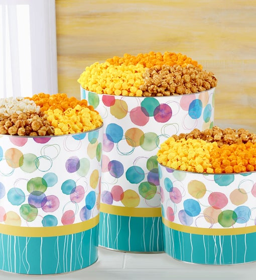 Say it with Dots Popcorn Tins
