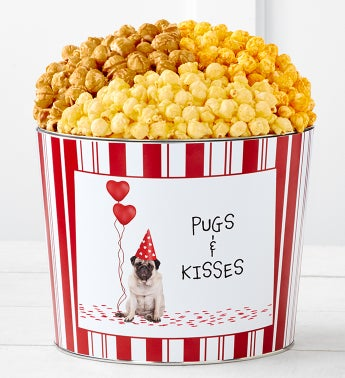 Tins With Pop Pugs And Kisses