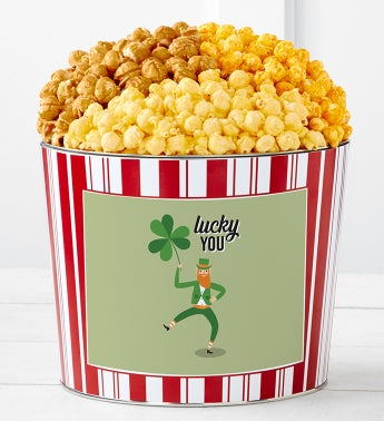 Tins With Pop Lucky You Clover